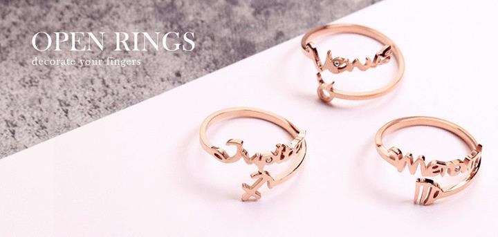 開口戒-戒指   Rings