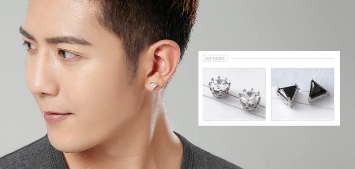 男生耳環-耳貼 | Sticker Earrings