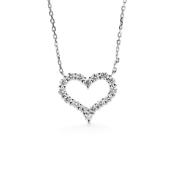 NKC070 戀愛心型微鑲鑽合金項鍊
