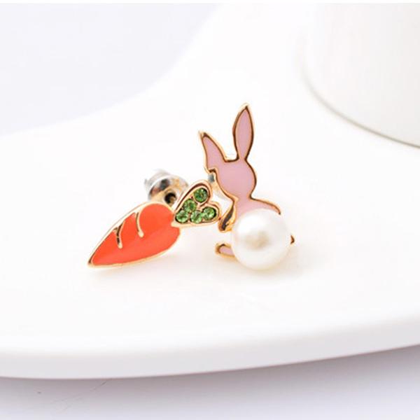 STK168RC-N 粉兔紅蘿蔔-耳針款