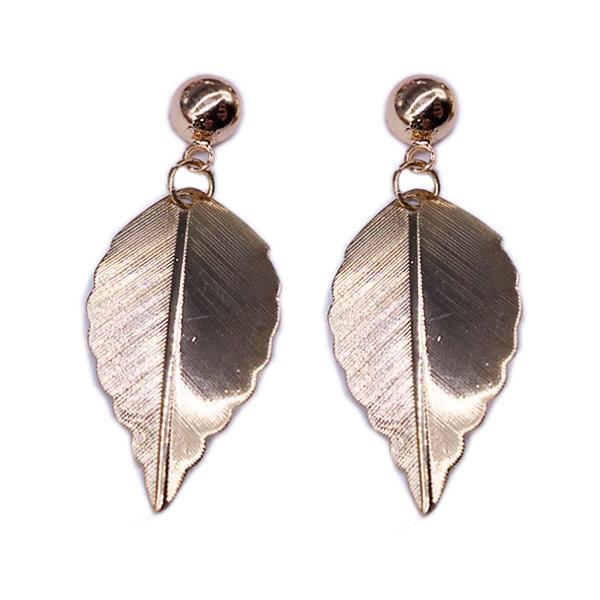 STK241 清新唯美森林系小樹葉 無耳洞黏貼式耳環