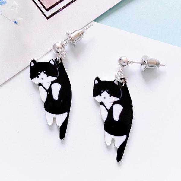 STK246BK-N 黑色小貓-耳針款