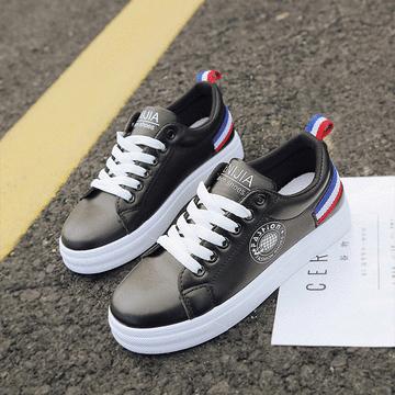 韓系條紋休閒平底鞋[版型偏小]
