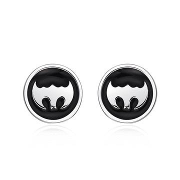 個性蝙蝠俠標誌黏式耳環