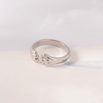 日系創意貓爪開口戒指