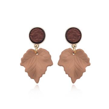 復古典雅楓葉 耳針/黏式耳環