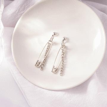 韓版創意個性別針 耳針/無耳洞黏貼式耳環