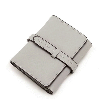 純色簡約抽帶設計韓版短夾