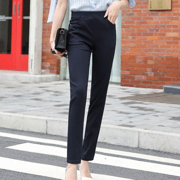 MIT台灣製造-百搭優雅長腿修身長褲
