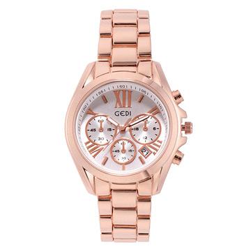 時尚氣質防潑水鋼帶手錶