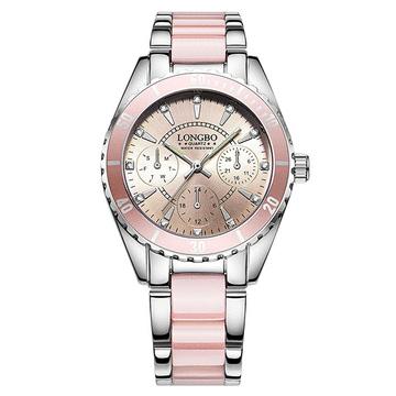 時尚女孩防潑水鋼帶手錶