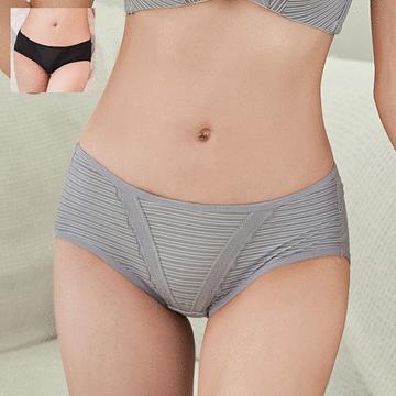 MIT台灣製造-清新簡約條紋萊卡三角配褲