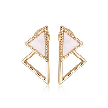 簡約個性幾何三角形黏式耳環