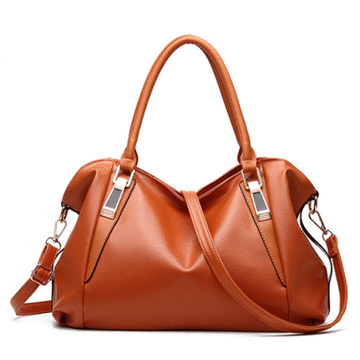 經典淑女荔枝紋軟皮手提包