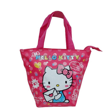 Hello Kitty 餃型手提包-愛心信