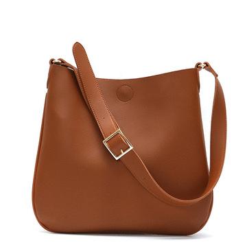 韓版純色簡約側背子母包