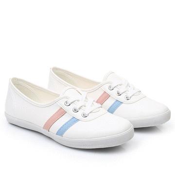 MIT台灣製-日常通勤撞色條紋平底鞋