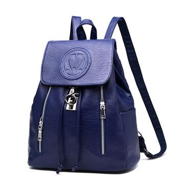 韓版時尚荔枝紋雙拉鏈後背包