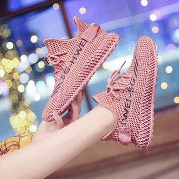 飛織網布透氣休閒運動鞋