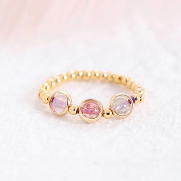 清新淡雅開運草莓晶戒指