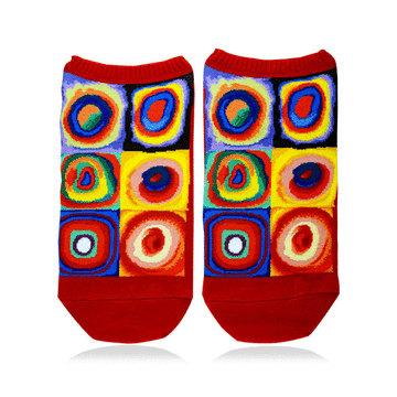 【名畫襪子系列】康丁斯基/色彩研究:正方形和同心圓
