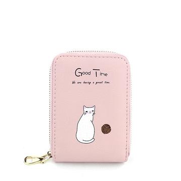 輕巧大容量可愛小貓咪卡包