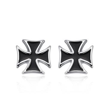 個性時尚黑黏式耳環