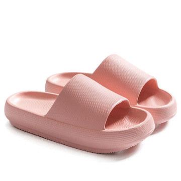 日系居家輕量厚底一字拖鞋