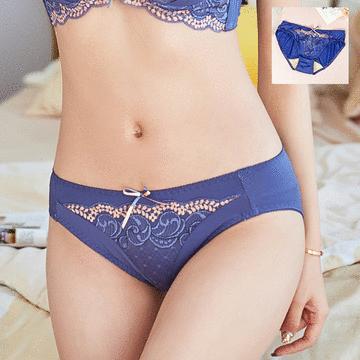 MIT台灣製-典雅華麗刺繡蕾絲三角配褲
