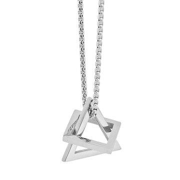 時尚個性幾何四方三角項鍊
