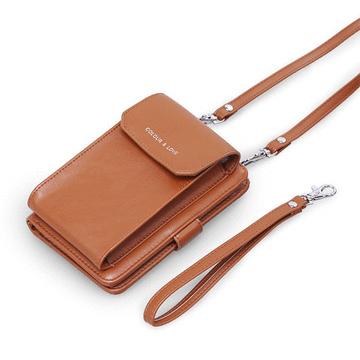 韓版簡約純色多功能手機包