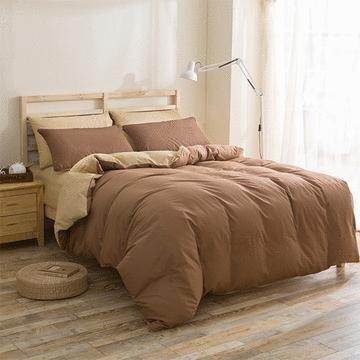 加大雙人床純色床包 - 四件套