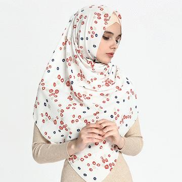 穆斯林清新小碎花長頭巾