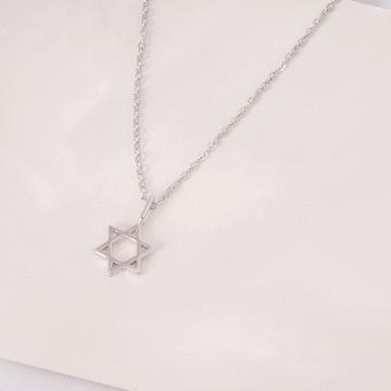 簡約素雅六芒星合金項鍊