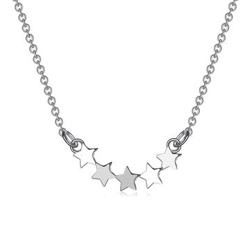 閃亮別緻素雅星連星S925純銀項鍊