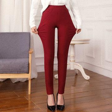 MIT台灣製-立體顯瘦彈性修身長褲