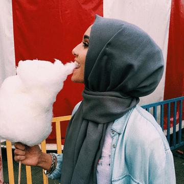 穆斯林純色棉質流蘇款長頭巾