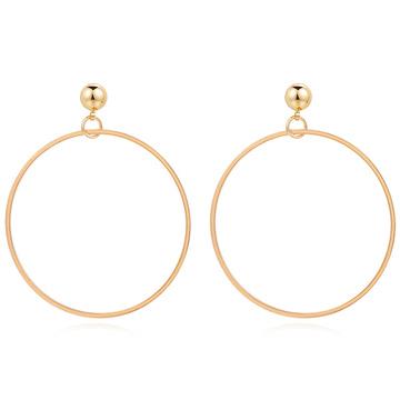 經典簡約金屬圓環 無耳洞黏貼式耳環
