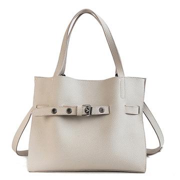 韓版荔枝紋子母手提包
