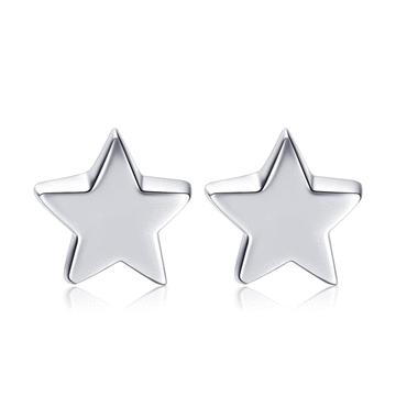 簡約小巧五角星 無耳洞黏貼式耳環