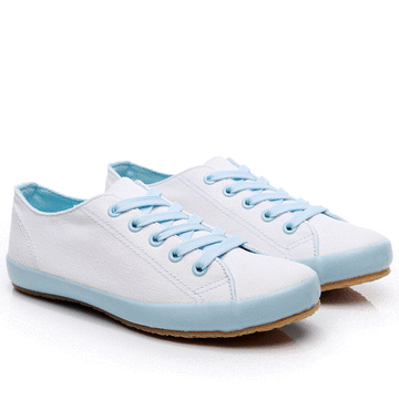MIT台灣製-休閒日常撞色膠底帆布鞋