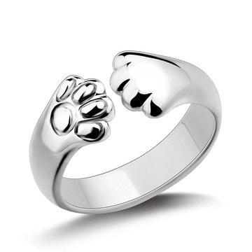 日系創意貓爪指環