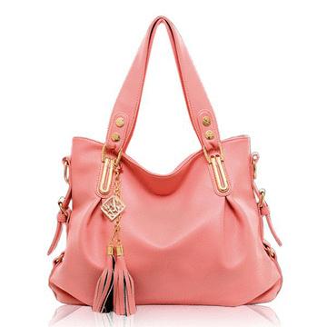 質感時尚金屬流蘇吊飾大容量手提側背包