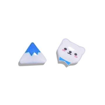 冰山與小熊熱縮片黏式耳環