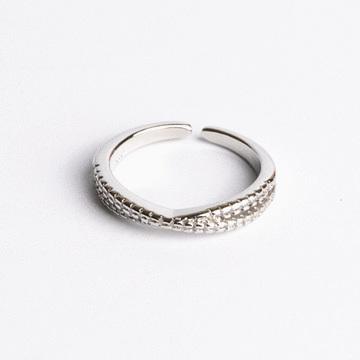 簡約小清新微鑲開口戒指