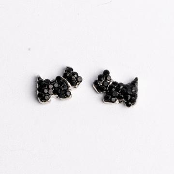個性可愛狗狗 耳針/無耳洞黏貼式耳環