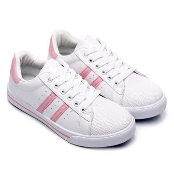 MIT台灣製-清新休閒糖果色小白鞋