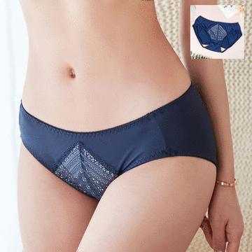 MIT台灣製-性感精緻網織蕾絲三角配褲