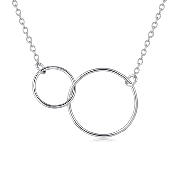 氣質簡約圓圈雙環項鍊