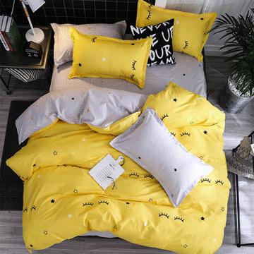 雙人床印花床包 - 四件套
